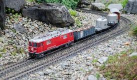 Miniaturowy halny kolej model przy Mainau wyspą, Bodensee, Niemcy zdjęcie stock