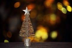 Miniaturowy jedlinowego drzewa drewniany stół zdjęcie royalty free