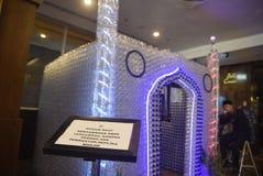 Miniaturowy meczet od używać butelek Fotografia Royalty Free