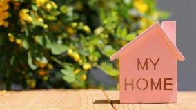 Miniaturowy model dom z kwiatem zbiory wideo