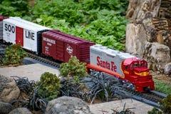 Miniaturowy modela pociąg, Santa Fe, Soo linia zdjęcia royalty free