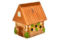 Miniaturowy wzorcowy kraju dom (prosiątko bank) Zdjęcia Stock