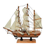 miniaturowy wzorcowy statek zdjęcia royalty free