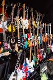 Miniaturrepliken von den Gitarren mythisch lizenzfreies stockbild