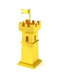 Miniaturschloss des goldenen Festungsturms gold Lizenzfreies Stockbild