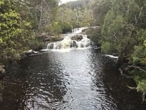 Miniaturstrom-Wasserfall Stockbilder