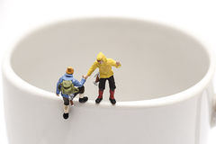 Miniaturvölkererholung Stockbilder