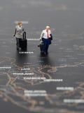 Miniatury dwa biznesowy mężczyzna Zdjęcie Royalty Free