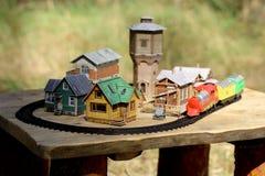 Miniaturyzuje starego miasteczko Zdjęcia Royalty Free