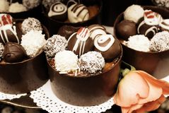 Miniatuur cakes. stock afbeelding