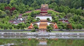 Miniatuur Chinees architecturaal landschap Stock Fotografie