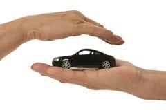 Miniatuur geïsoleerde auto Stock Afbeeldingen