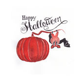 Miniatuur gelukkig Halloween Royalty-vrije Stock Fotografie
