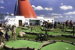 Miniatuur golf op zee Royalty-vrije Stock Afbeelding
