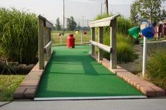 Miniatuur golfgat Stock Afbeeldingen