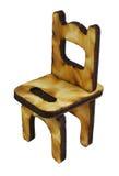Miniatuur houten stoel Royalty-vrije Stock Afbeelding