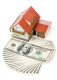Miniatuur Huis en Geld. royalty-vrije stock fotografie
