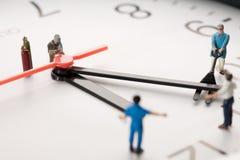 Miniatuur Lasser op het Werk Stock Afbeelding