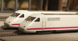 Miniatuur model van interlokale trein Stock Afbeeldingen
