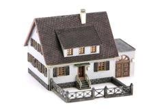 Miniatuur modelwoning Stock Foto's