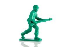 Miniatuur plastic stuk speelgoed militair royalty-vrije stock foto's