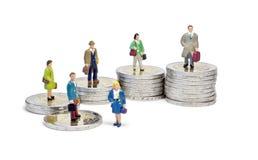 Miniatuur rij twee euro treden Royalty-vrije Stock Afbeelding