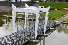 Miniatuur spoorwegbrug Royalty-vrije Stock Foto's