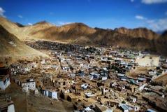 Miniatuur stad Leh Stock Fotografie