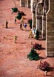 Miniatuur straat van Zwitserland royalty-vrije stock foto