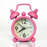 Miniatuur Uitstekende Roze Wekker - Minimaal Ontwerp royalty-vrije stock foto's