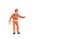Miniatuur van de menseningenieur en arbeider beroep Royalty-vrije Stock Afbeelding