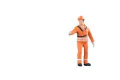 Miniatuur van de menseningenieur en arbeider beroep Stock Afbeeldingen
