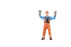 Miniatuur van de menseningenieur en arbeider beroep Royalty-vrije Stock Foto