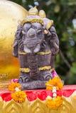 Miniatuur van hoofdolifant drie Royalty-vrije Stock Foto