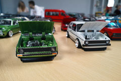 Miniatuur van klassieke auto's Royalty-vrije Stock Foto's