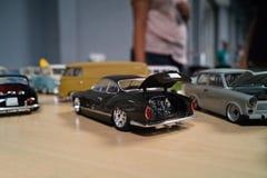 Miniatuur van klassieke auto's Stock Afbeelding