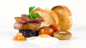 Miniatuur volledig Engels ontbijt   Stock Foto's
