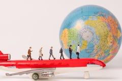 Miniatuurbeeldjes van reiziger Royalty-vrije Stock Afbeeldingen