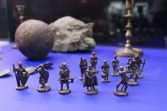 Miniatuurbeeldjes van strijders Stock Afbeeldingen