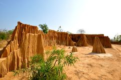 Miniatuurgrand canyon van Thailand Stock Foto's