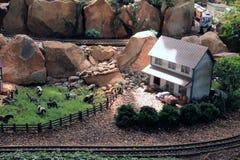 Miniatuurlandbouwbedrijf stock afbeelding