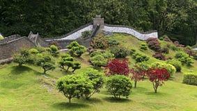 Miniatuurlandschap: grote muur van China royalty-vrije stock foto