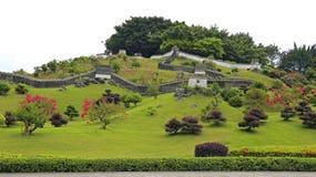 Miniatuurlandschap van grote muur van China Royalty-vrije Stock Foto