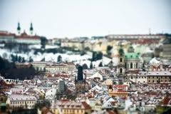 Miniatuurmening van Praag, Tsjechische Republiek Stock Fotografie