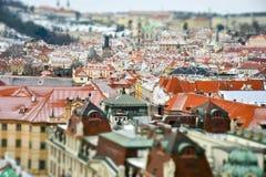 Miniatuurmening van Praag, Tsjechische Republiek Royalty-vrije Stock Afbeelding
