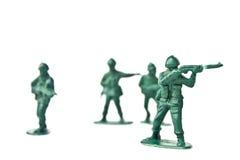 Miniatuurstuk speelgoed militair stock afbeeldingen