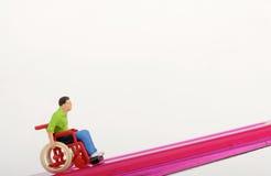 Miniatyr av en handikappade personerman royaltyfria bilder