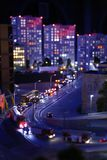 Miniatyr av Ryssland trafikstockningar i metropolisen, i storstaden av Ryssland i moscow, St Petersburg Arkivbild