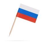 Miniatyrflagga Ryssland bakgrund isolerad white Royaltyfria Bilder