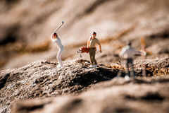 Miniatyrgolfare Fotografering för Bildbyråer